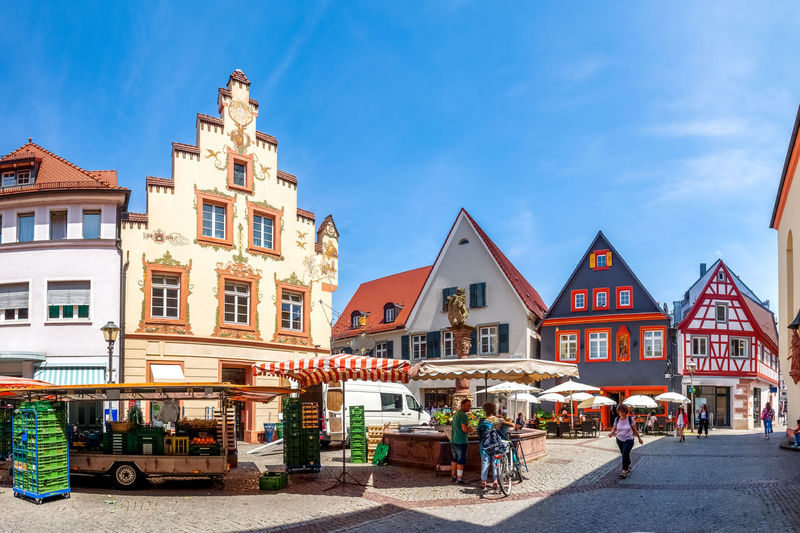 Offenburg Germany Offenburg Black Forest Building Market Historical Center Center City Cityscape Church Market Square City Hall Town Town Hall Architecture Monument Village Germany Summer Shopping