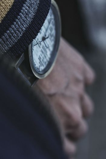 Close-Up Of Man Wearing Watch