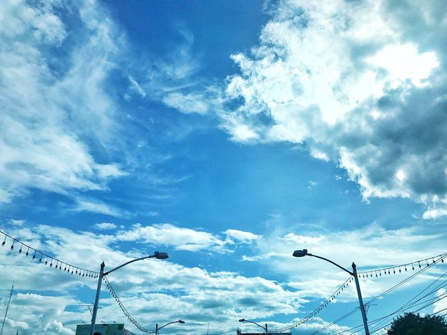 Sky Cloud - Sky Low Angle View No People Day Blue Outdoors Nature City