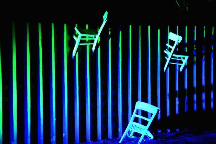 Turquoise By Motorola Flying Chair Nightphotography Night Lights