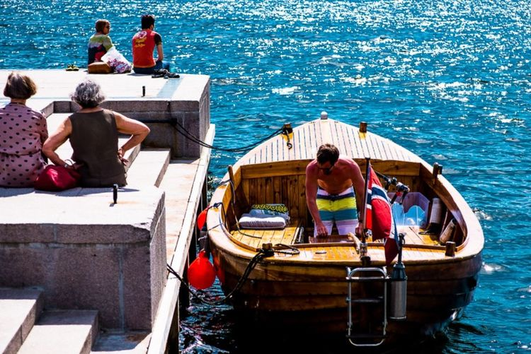 People sitting on boat