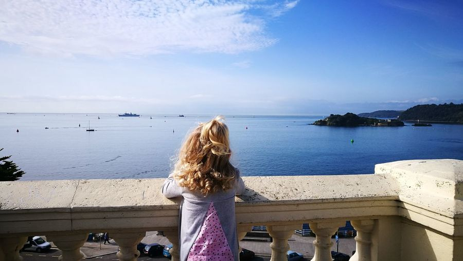 Looking out to Sea Daughter Waiting For Dad Royal Navy First Eyeem Photo EyeEmNewHere