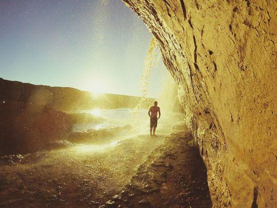 Success Waterfall Arizona AZ Falls Nature Outdoors Sunset Yellow Fun Adventure