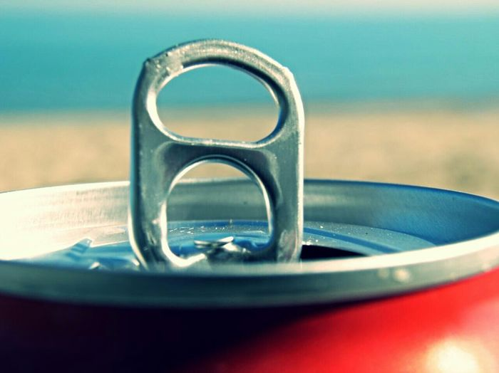 Close-up of a coke can