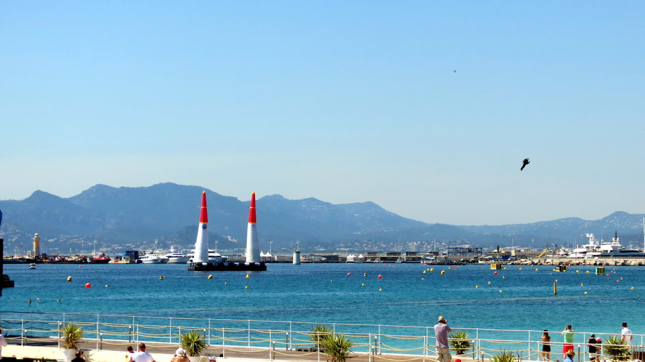 Cannes, France Clear Sky Day Flying Nature Red Bull Air Race Red Bull Air Show Sea Sky Transportation Travel Water