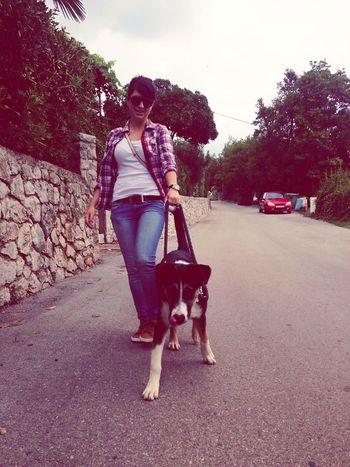 Throwbacktuesday Walking The Dog Mydog Mydogisthebestintheworld Sunny Day