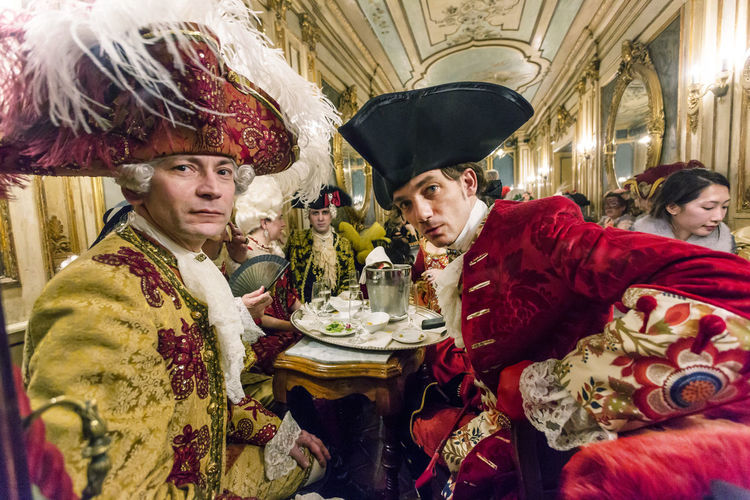 Carnival Carnival In Venice Event High Society The Week On EyeEm Venice, Italy Adult Bride Bridegroom Cafe Florian, Venice Celebration Celebration Event Ceremony Costume Cultures Day Happiness Indoors  Life Events Looking At Camera Mask Mask - Disguise Men Period Costume Real People Red Smiling Togetherness Tradition Traditional Clothing Two People Venetian Carnival Wedding Ceremony Young Adult