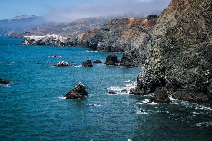 Water Sea Nautical Vessel Beach Blue Rock - Object Sky Coast Rocky Coastline Shore Wave Crashing