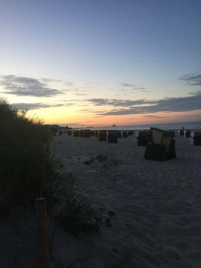 Sunset at the beach Sky Water Sunset Sea Beach Scenics - Nature Land Idyllic Non-urban Scene Horizon Cloud - Sky No People Horizon Over Water Outdoors Tranquility Sand Nature Beauty In Nature Tranquil Scene