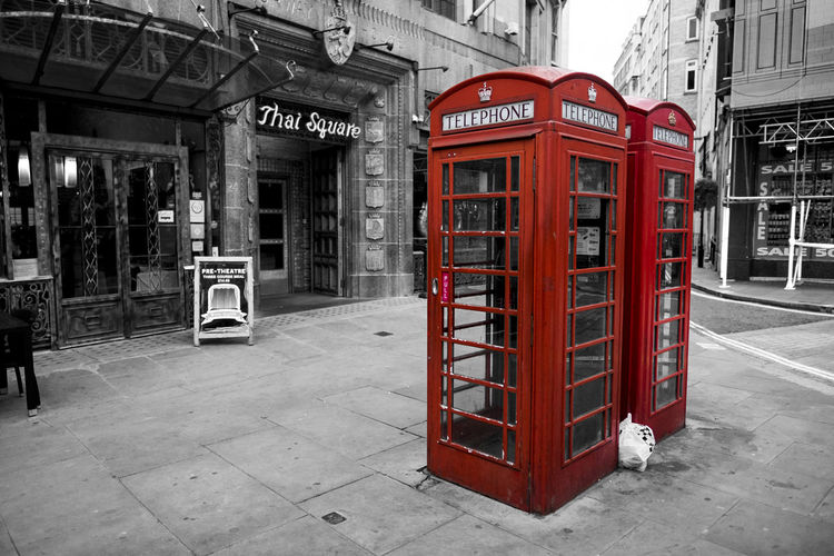 Rubbish bag ruined my shot LOL. Telephone Booth Old-fashioned Pay Phone London Phone Box London Urban Photography Outdoors Fuji 35mm F2