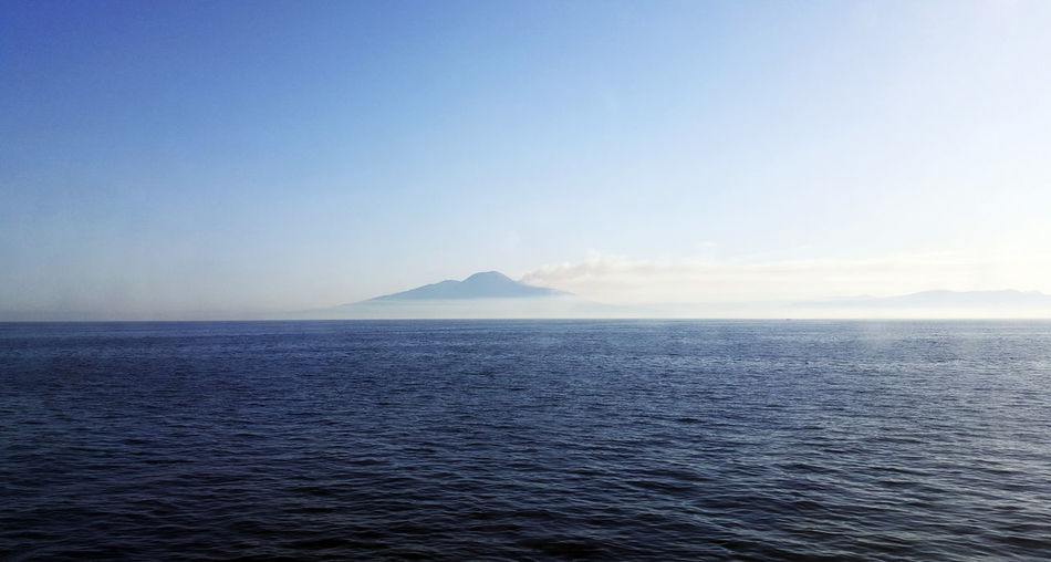 Beauty In Nature Blue Clear Sky Day Horizon Over Water Idyllic Nature No People Outdoors Rippled Scenics Sea Sky Tranquil Scene Tranquility Vesuvius  Volcano Water Waterfront