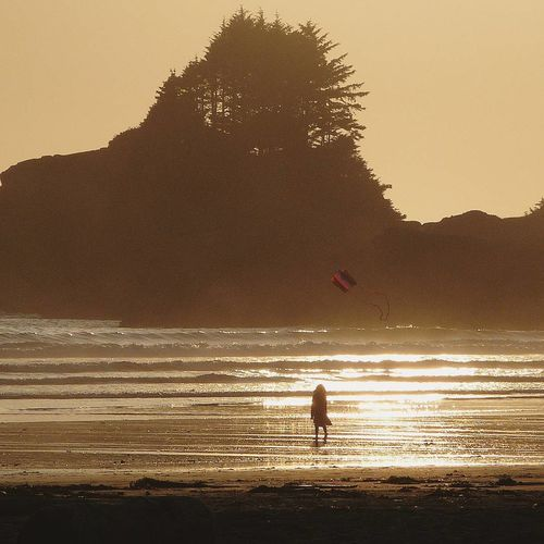 Beach Sunset Outdoors People Water Nature Sand Day Littlelady Canada Workandtravel