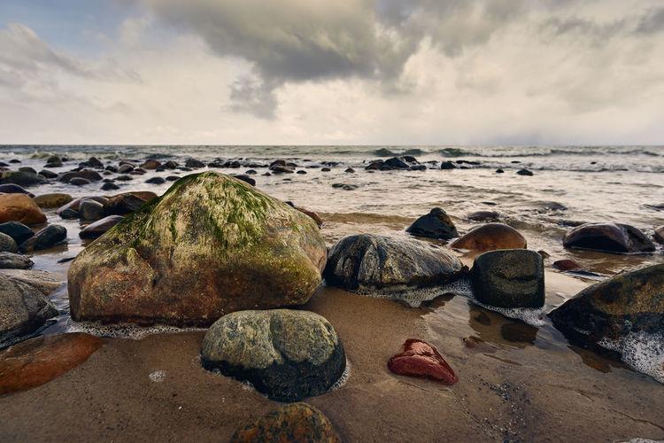 Wet rocks in