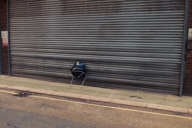 Chair On Shutter Door