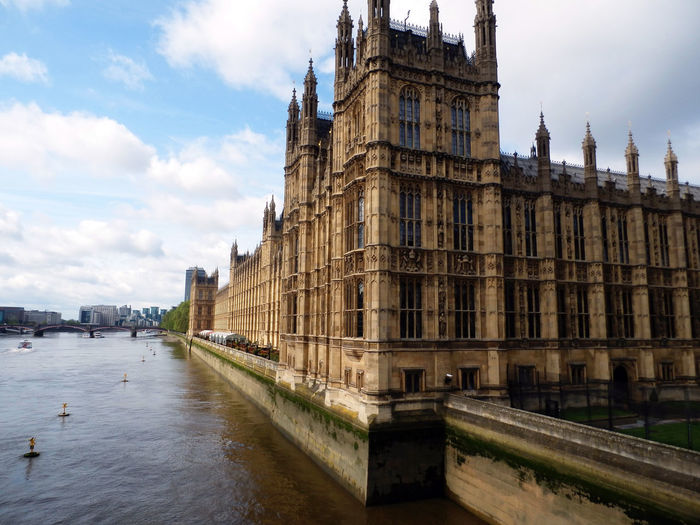 Low Angle View Of Palace Of Westminster In London