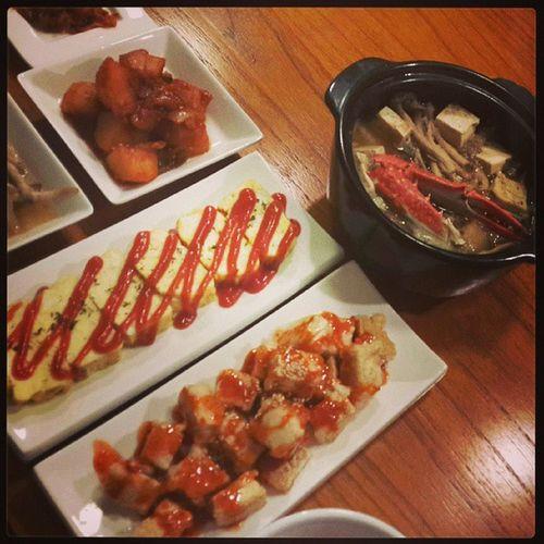 저녁식샤_달걀말이 두부강정 꽃게된장찌개 맛있어 onelove
