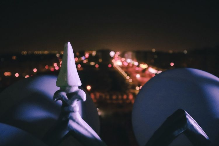 City nights view