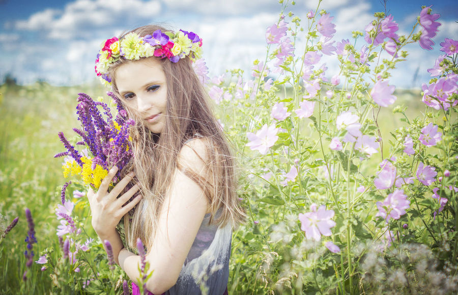 Botany Flower Flower Head Fragility Freshness Happiness Pastel Power Person Pink Pink Color