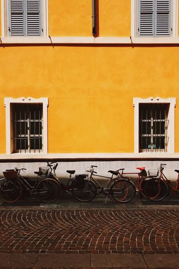 Paint The Town Yellow Bicycle Wall Yellow Bicycles Italy Geometry Symmetry