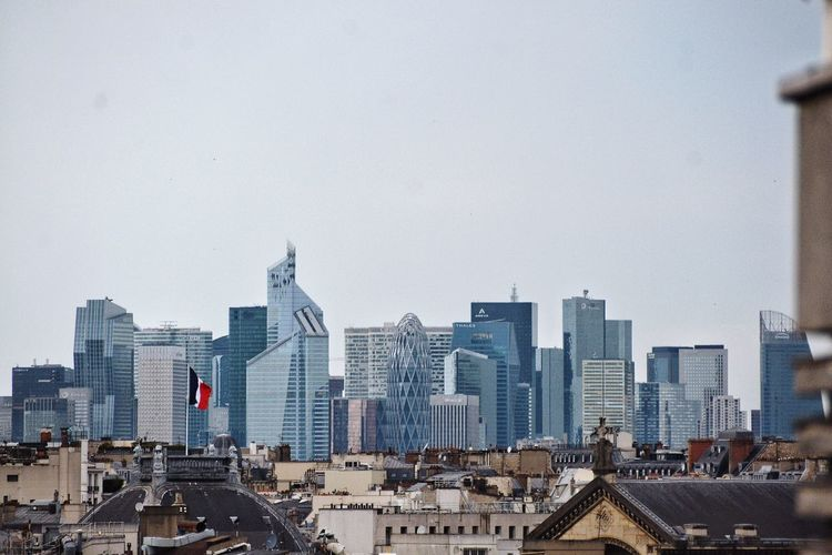 A a view from a city to another. La Défense France City Cityscapes Urban Urbanity Architecture Building Exterior Built Structure City Cityscape Urban Skyline Office Building Financial District  Development Urban Scene Embrace Urban Life