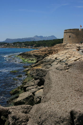 Sea fortress of Moraira, Spain. Ancient Civilization Architecture Beauty In Nature Clear Sky Environment History Nature Rock Rock - Object Scenics - Nature Sky Tourism Tranquil Scene Tranquility Travel Water