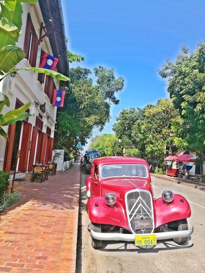 lane in heritage city leisure relaxing beautiful Sunshine ☀ Car Lane Heritage Colors Vintage Car