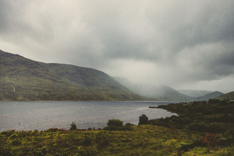 Beauty In Nature Cloud - Sky Cloudy Day Connemara National Park Day Gloomy Day Grass Idyllic Ireland Lake Landscape Moor  Mountain Nature No People Outdoors Rainy Scenics Sky Tranquil Scene Travel Destinations Vacations