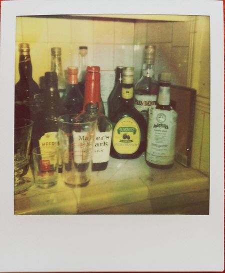 Drinking Liquor My Bar Polaroid
