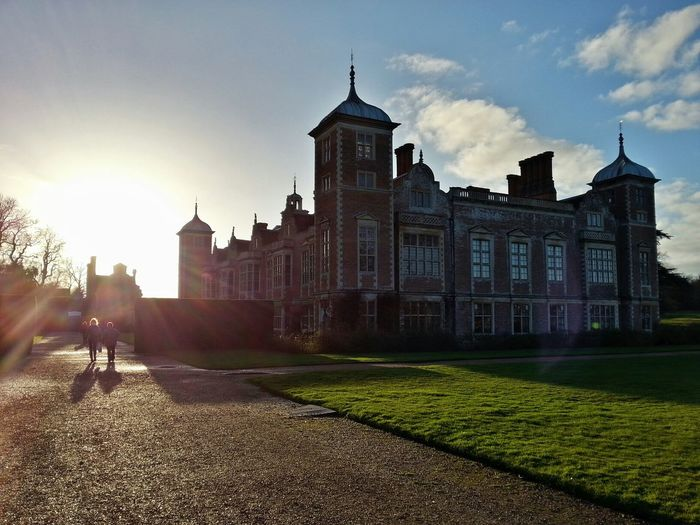 Blickling Hall Silhouettes Sunset Norfolk Uk
