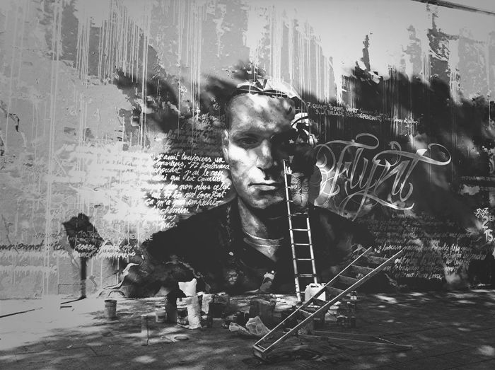 Streetphotography Streetart Light And Shadow BNW PARIS
