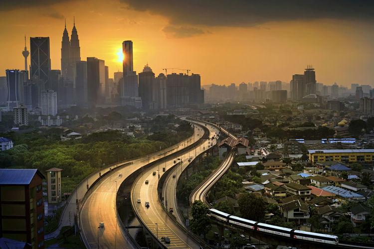 Kuala lumpur city at dusk Kuala Lumpur Cities Dusk In The City Urban Landscape First Eyeem Photo