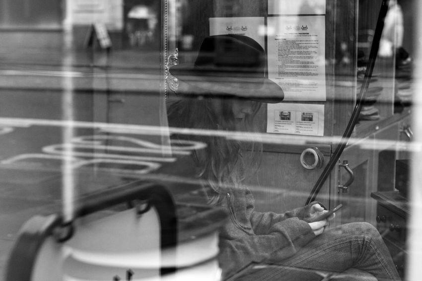 Black And White Monochrome Street Photography Walking In London Walking In The Street Reflection Reflections In The Glass Windows Eye4photography  EyeEm Gallery Real People Woman Window Take Photos City Life City Street London Streets London