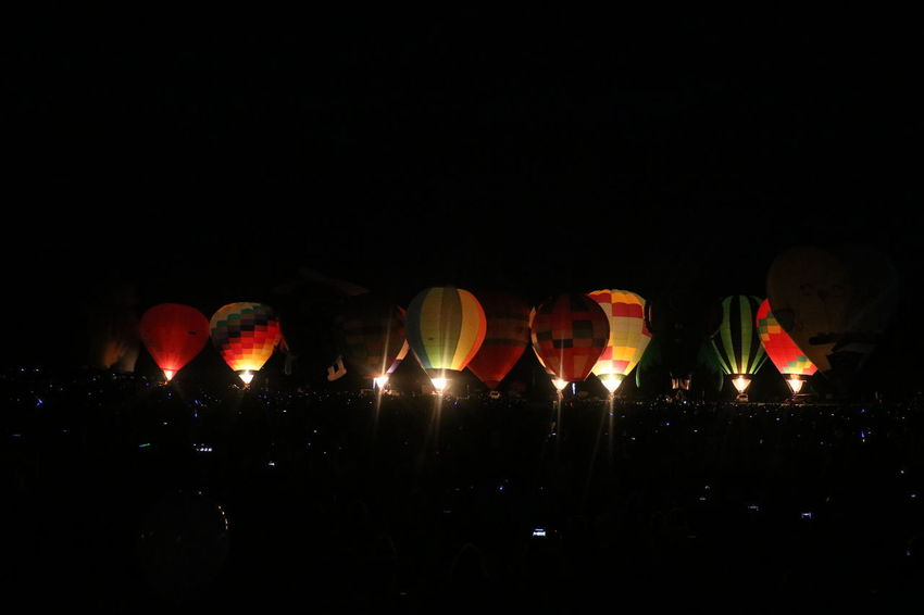 Ballooning Festival Crowd Eyeemnaturelover EyeEmNewHere Flames & Fire Fresh Fresh On Eyeem  HotAirBallonFestival Illuminated Inflatables Lantern Large Group Of People Night Nightphotography Outdoors Red Sky Traditional Festival