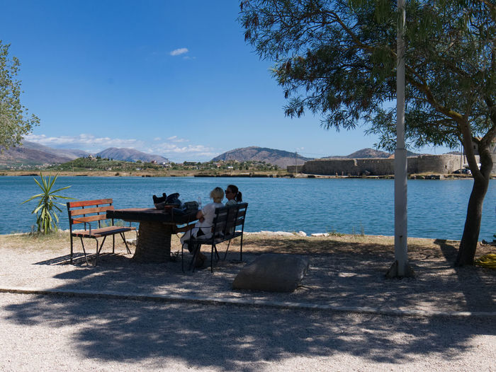 Butrint Albany Beauty In Nature Butrint Day Mountain Nature Outdoors Sea Shadow Sky Sunlight Tree Water