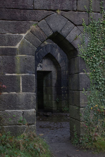 Built Structure Outdoors No People Building Exterior Day Arch Architecture Stone Wall Ruin Rivington Country Park Doorway Doorways