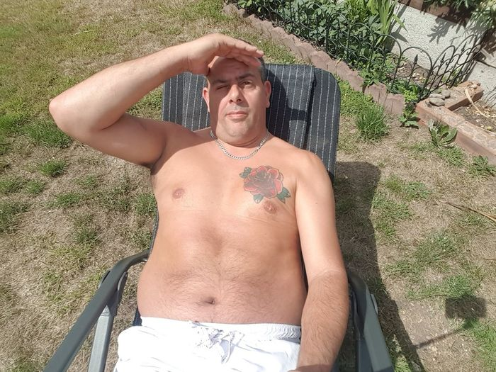 Shirtless men over 50
