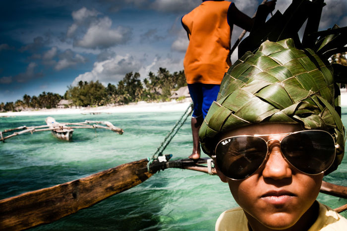 Beauty In Nature Catamaran Close-up EyeEmNewHere Live For The Story Outdoors Rayban Real People Sailing Sea Boatride Summer Sunglasses The Great Outdoors - 2017 EyeEm Awards The Portraitist - 2017 EyeEm Awards Water Hat Banana Leaf Offline