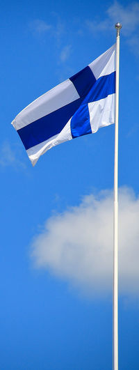 Helsinki city Finland Helsinki Helsinki Finland Blue Clean Cloud - Sky Copy Space Day Emotion Environment Flag Freedom Independence Low Angle View Motion National Icon Nature No People Outdoors Patriotism Pole Sky Waving White Color Wind
