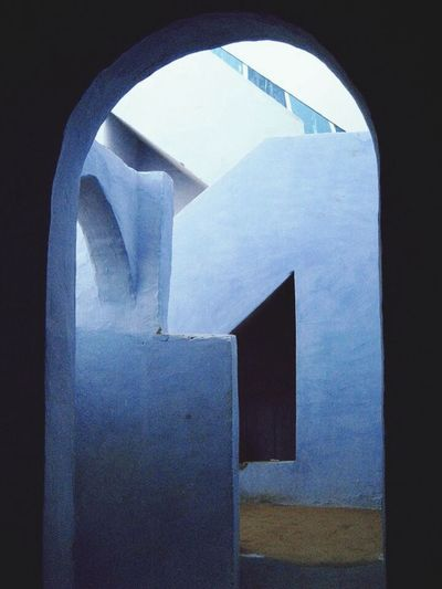Shades Of Blue Cubist Nubian House Architecture Lines And Shapes Egypt