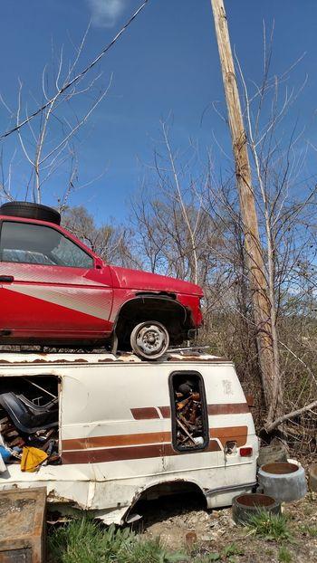 Car Transportation Day No People Sky Red Crash