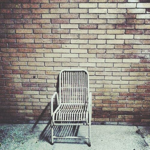 Bricks Brick Wall Lonely Chair