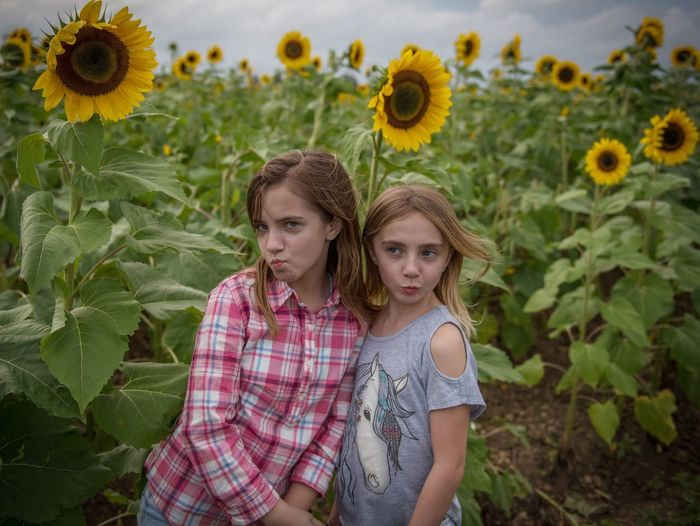 Blue Steel Field Flower Flowers Portrait Cute Plant Nature Fragility Beauty In Nature Beautiful Yellow Day Grass Green Yellow Flower Outdoors Kid Kids Fun Funny Funny Faces Cheese! Enjoying Life Non-urban Scene Clouds And Sky