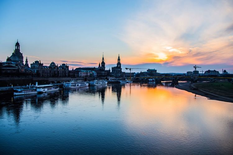 Sunset Reflection Riverview Dresden