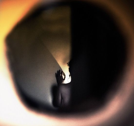 Stage Fright Ginnaalvarez Ginna álvarez That's Me Self Portrait Shadow Peeking Circle Fragile
