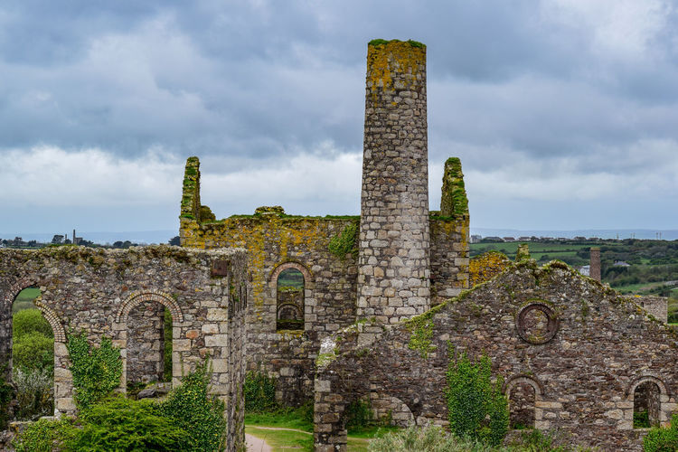 This Is England Great Flat Lode Historic Bulding History Cornish Mining Old Buildings Brickwork  Cornwall Copper And Tin Carn Brea South Wheal Frances Impressive Buildings Closed In 1918 Grannite Rubble Brick Arches The Past Old Ruin Building Exterior Travel Destinations No People Outdoors Deterioration
