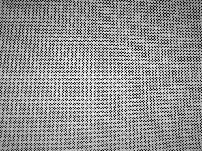 Metal mesh with small holes background. Black and white small holes grid pattern. Arts Culture And Entertainment Backgrounds Close-up Dot Extreme Close-up Full Frame Grid Grid Pattern Hole Indoors  Macro Message Metal Modern No People Pattern Repetition Silver Colored Spotted Striped Studio Shot Surface Level Textile Textured  White Color