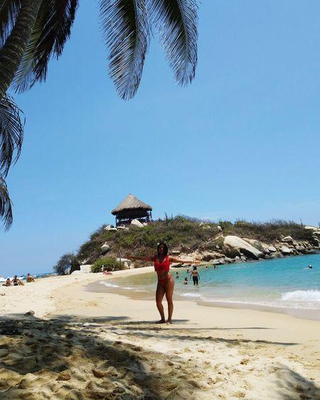 Clear Sky Sea Full Length Men Beach Water Sand Blue Summer Standing