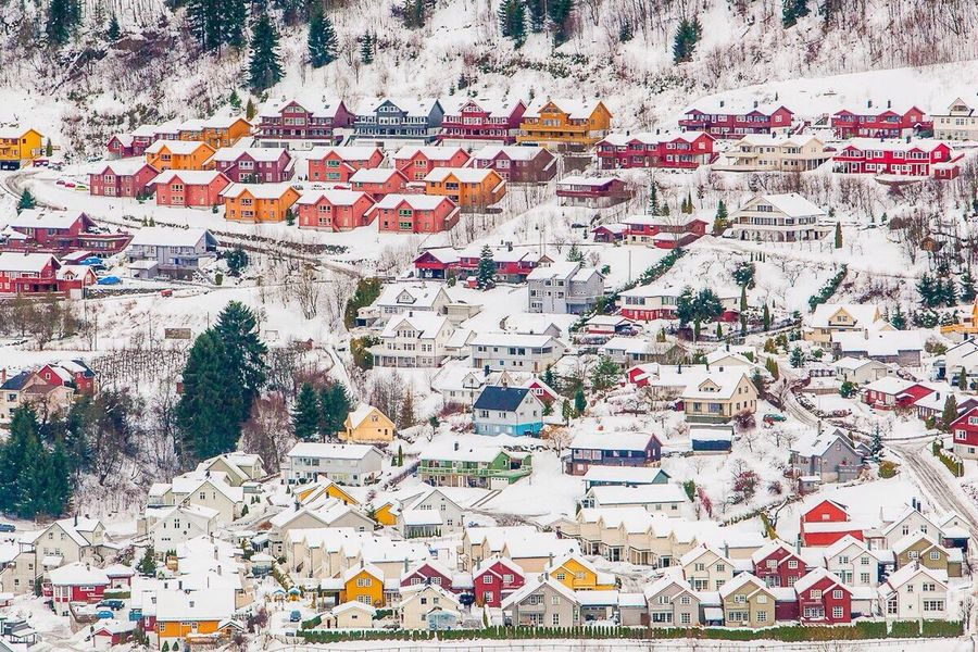 Norway Sogndal Houses Colors