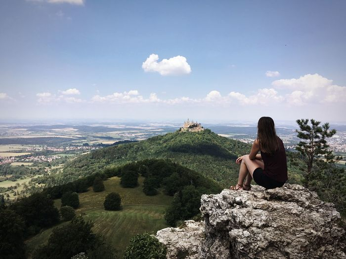 View. #deutschland #castle #niceview Sky Real People Nature Plant Beauty In Nature One Person Leisure Activity