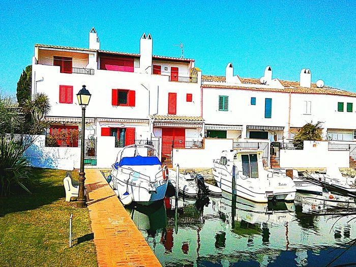 Casas en Empuriabrava. Outdoors Red Day No People Sky Sea Architecture Water